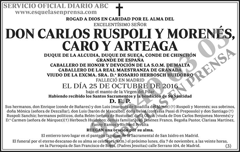 Carlos Ruspoli y Morenés, Caro y Arteaga